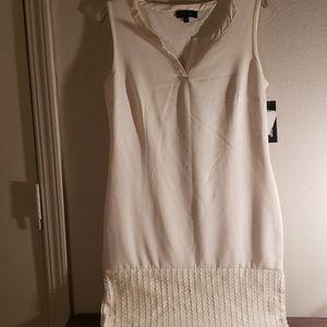 NWT Spense dress with leather trim.